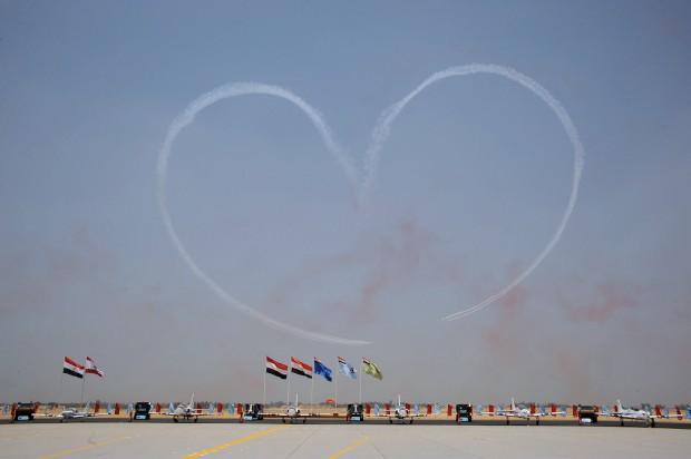EGIPTO, 10.07.2012. Durante um festival aéreo militar em Sharquiya, a 65km do Cairo