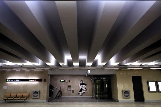 Amália, Pessoa, Eusébio e até o Zé Povinho dão as boas-vindas no Metro Aeroporto