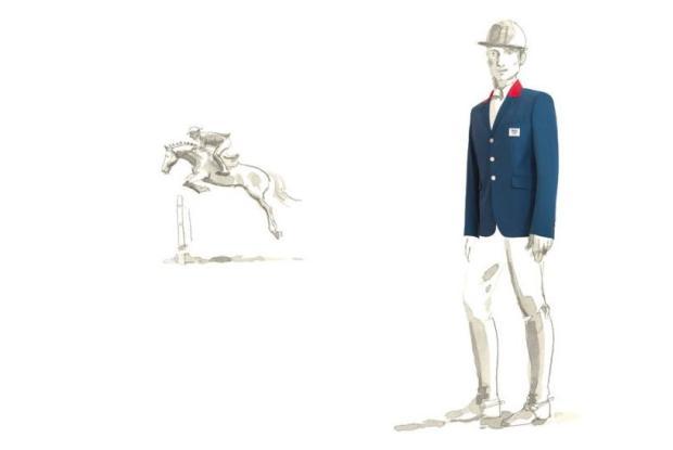 Hermés para a equipa equestre da comitiva olímpica francesa
