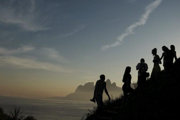BRASIL, 22.07.2012. À praia do Arpoador, Rio de Janeiro