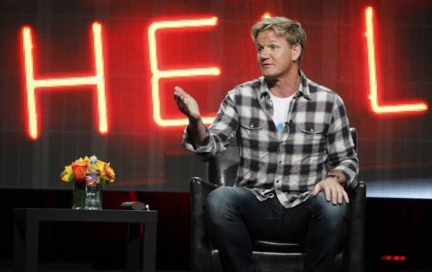 Ramsay na apresentação do seu novo programa, Hotel Hell