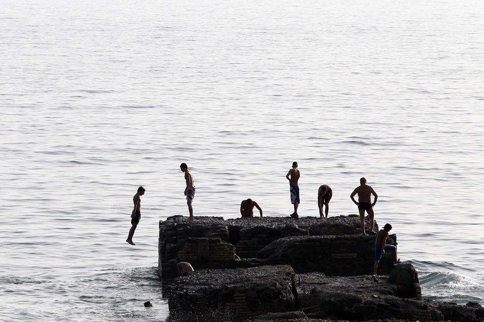 Itália, Santa Marinella | 06.08.2012. 40ºC. Mergulhos no mar, a norte de Roma