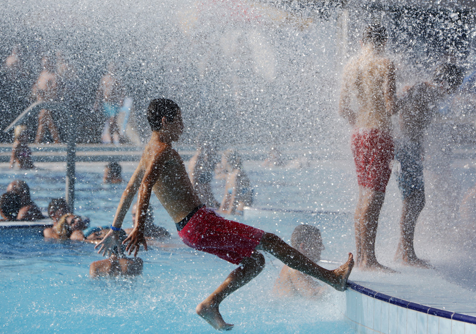 Hungria, Budapeste | 06.08.2012. 38ºC. Imagens de um spa ao ar livre em Budapeste
