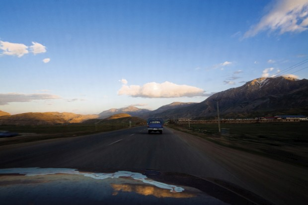 A saída de Maku, no Irão, rumo a Tabriz