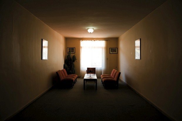 Sala de convívio num motel onde pernoitámos junto à cidade fronteiriça de Maku no Irão