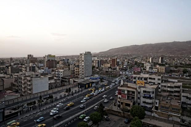 A cidade de Tabriz, a cerca de 550 km da Teerão.