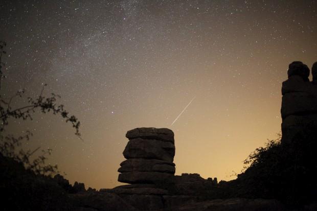 No parque natural de El Torcal, em Antequera, Espanha. 13/08/2012