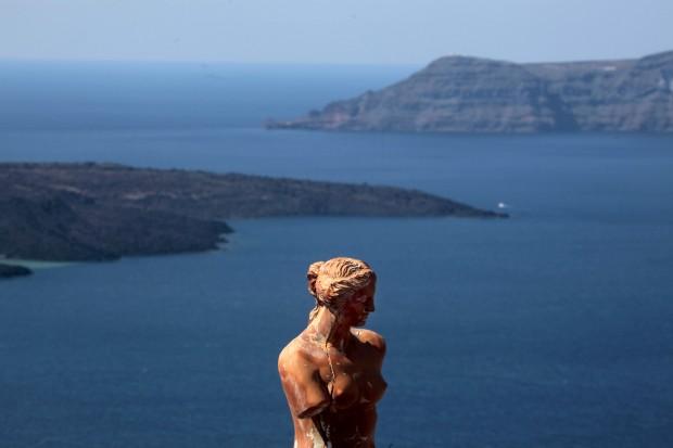 Réplica de Afrodite de Milo em Santorini