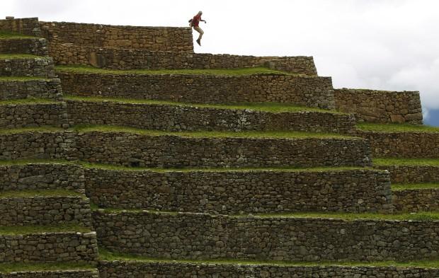 O salto do turista