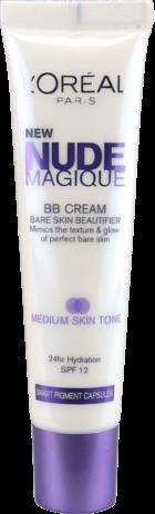 BB Cream Nude Magique. Adapta-se ao tom da pele graças às microcápsulas que se quebram na aplicação. Como produto de tratamento, contém antioxidantes para ir além da hidratação ao mesmo tempo que protege a pele dos raios UV.