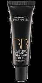 Prep+Prime BB Cream. Uniformiza e ilumina a pele, disfarçando poros dilatados e pequenas rugas. Com SPF 35, está disponível apenas na cor bege porque se adapta a todos os tons de pele.