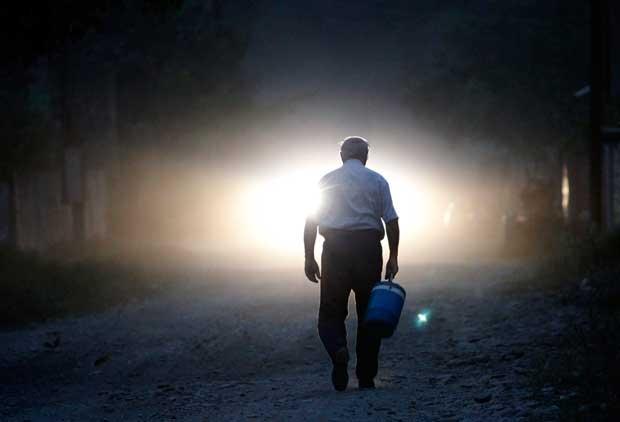 GEóRGIA, 29.08.2012. Um momento no quotidiano da cidade de Lapankuri, a  175 km de Tbilissi