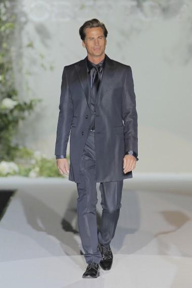 Roberto Verino levou à passerelle o top model de 44 anos Mark Vanderloo