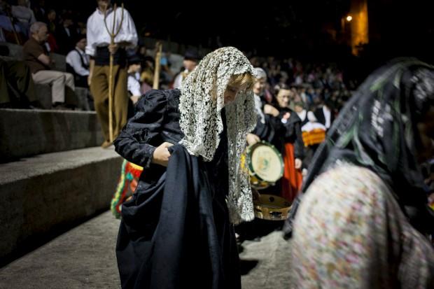 Em Seia, momento de um concurso de bandas filarmónicas