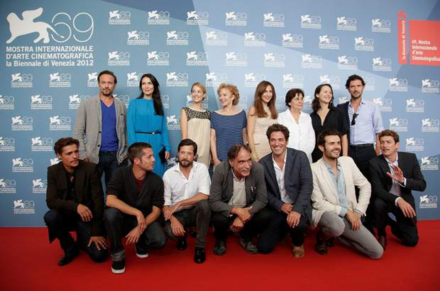 Elenco do filme As Linhas de Wellington no photocall