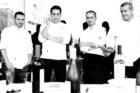 Da esquerda para a direita: Hans Neuner, duas estrelas Michelin, The Ocean; Ricardo Costa, uma estrela Michelin, The Yeatman; Vincent Farges, uma estrela Michelin, Fortaleza do Guincho; José Cordeiro, uma estrela Michelin, Feitoria