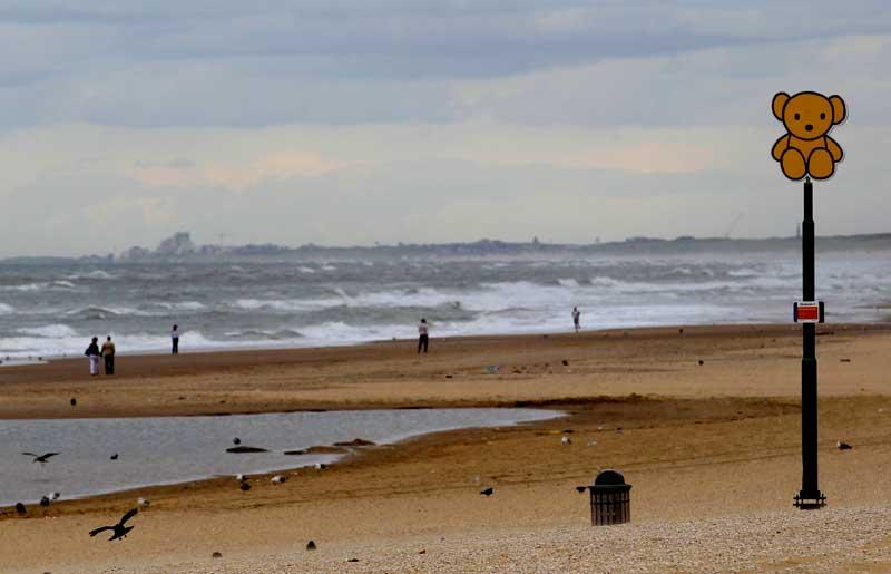 HOLANDA, 12/09/2012. Praia de Scheveningen, perto de The Hague