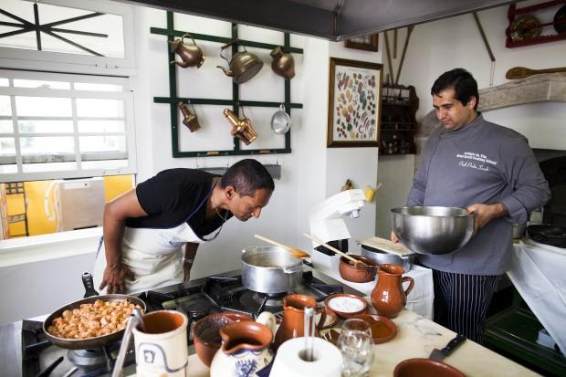 Aula de culinária do hotel Refúgio da Vila