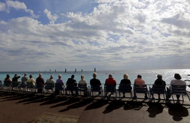 FRANÇA, 19.10.2012. Na Promenade des Anglais, em Nice, durante uma prova de vela da Extreme Sailing Series