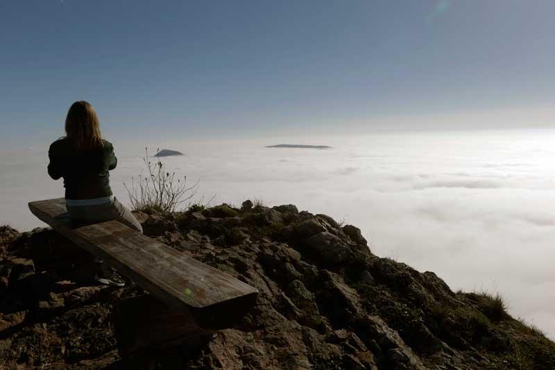 SUÍÇA, 23.10.2012. Na montanha Vogelberg, a 1204m de altitude, a 30km de Basileia