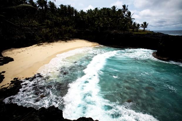 No Ilhéu das Rolas, praia de desova para tartarugas