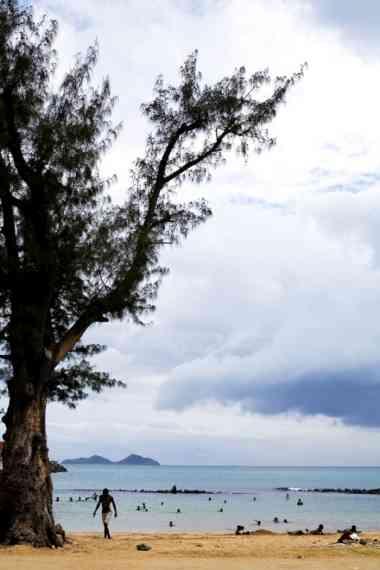 Baía em São Tomé