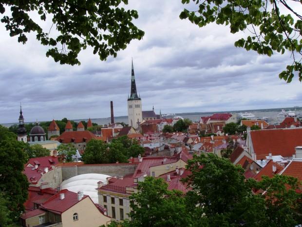 Estónia, Talin, vista da parte alta da cidade