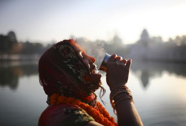 Festival Chhath, em Katmandu