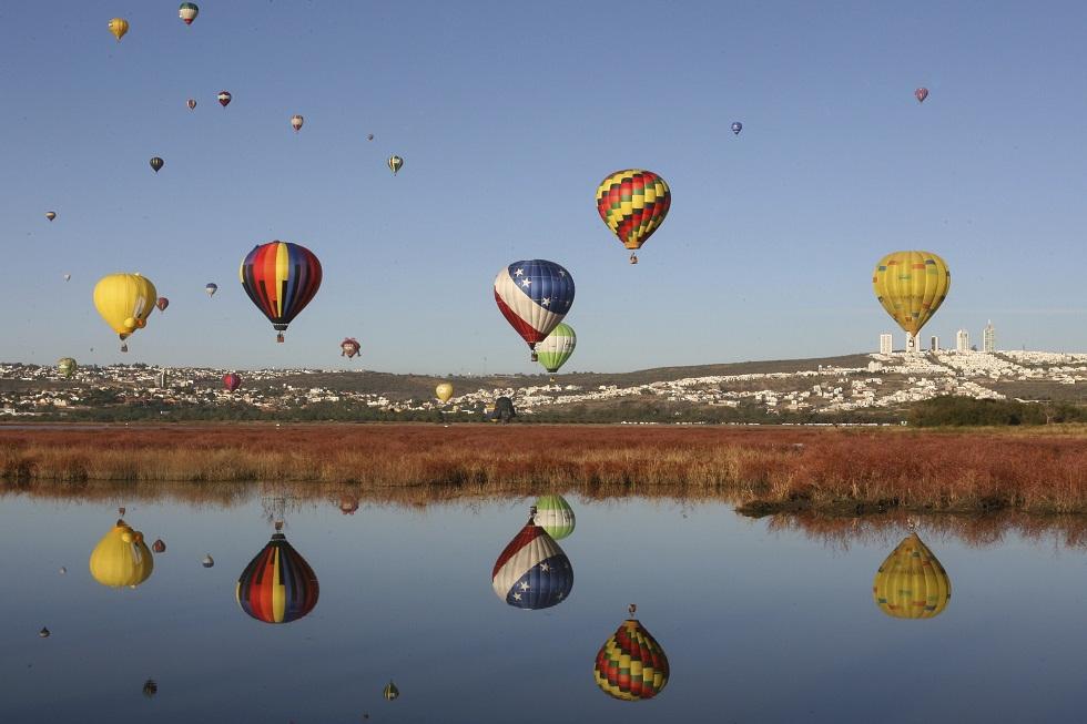 México, 19.11.2012. Festival de Balões de Ar Quente em Leon, no estado de Guanajuato