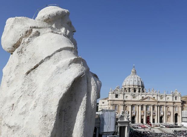 Na praça de São Pedro, Vaticano