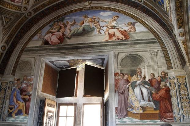 Um fresco terminado por Rafael: