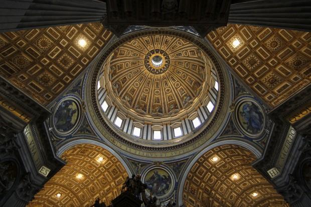 A abóboda da Basílica de São Pedro