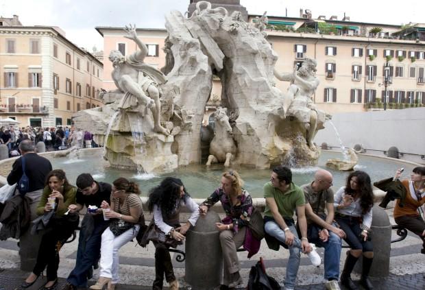 Fontana dei Quattro Fiumi na Piazza Navona