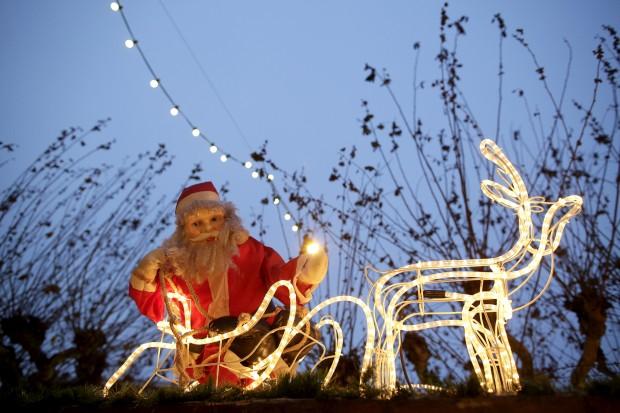 Decorações do mercado de Natal de Frankfurt, Alemanha