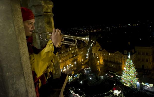 A trompeta do Natal, em Praga, R. Checa