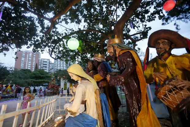 No Rio de Janeiro, um presépio que também utiliza figuras do folclore brasileiro
