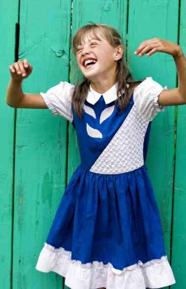 A alegria de uma criança em Ulan-Ude, na Rússia