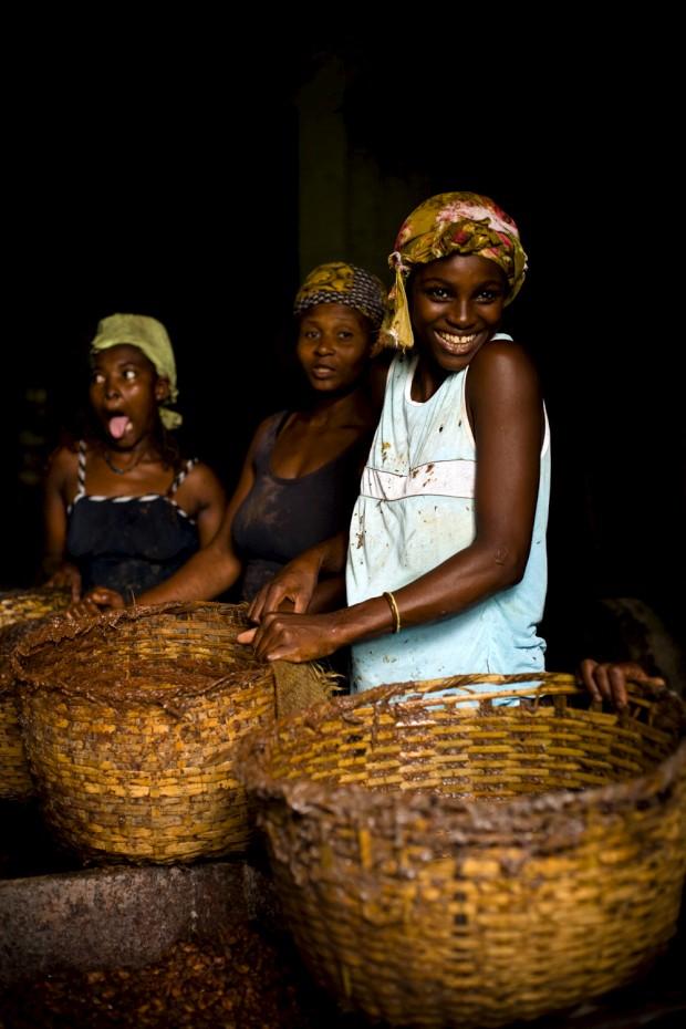 Trabalhadoras de uma roça em S.Tomé e Princípe