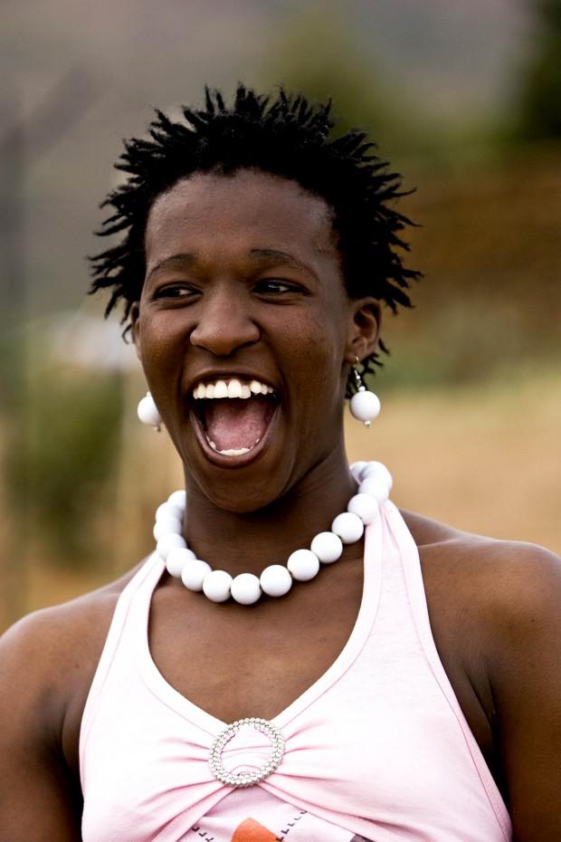 O imenso sorriso de uma rapariga do Lesoto