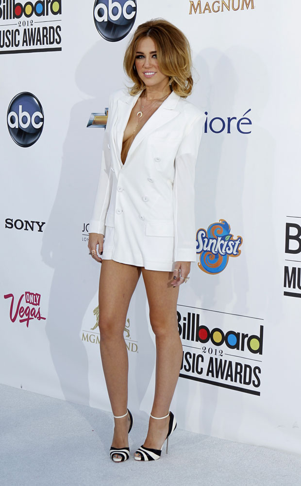 A cantora e actriz Miley Cyrus nos Billboard Music Awards em Las Vegas