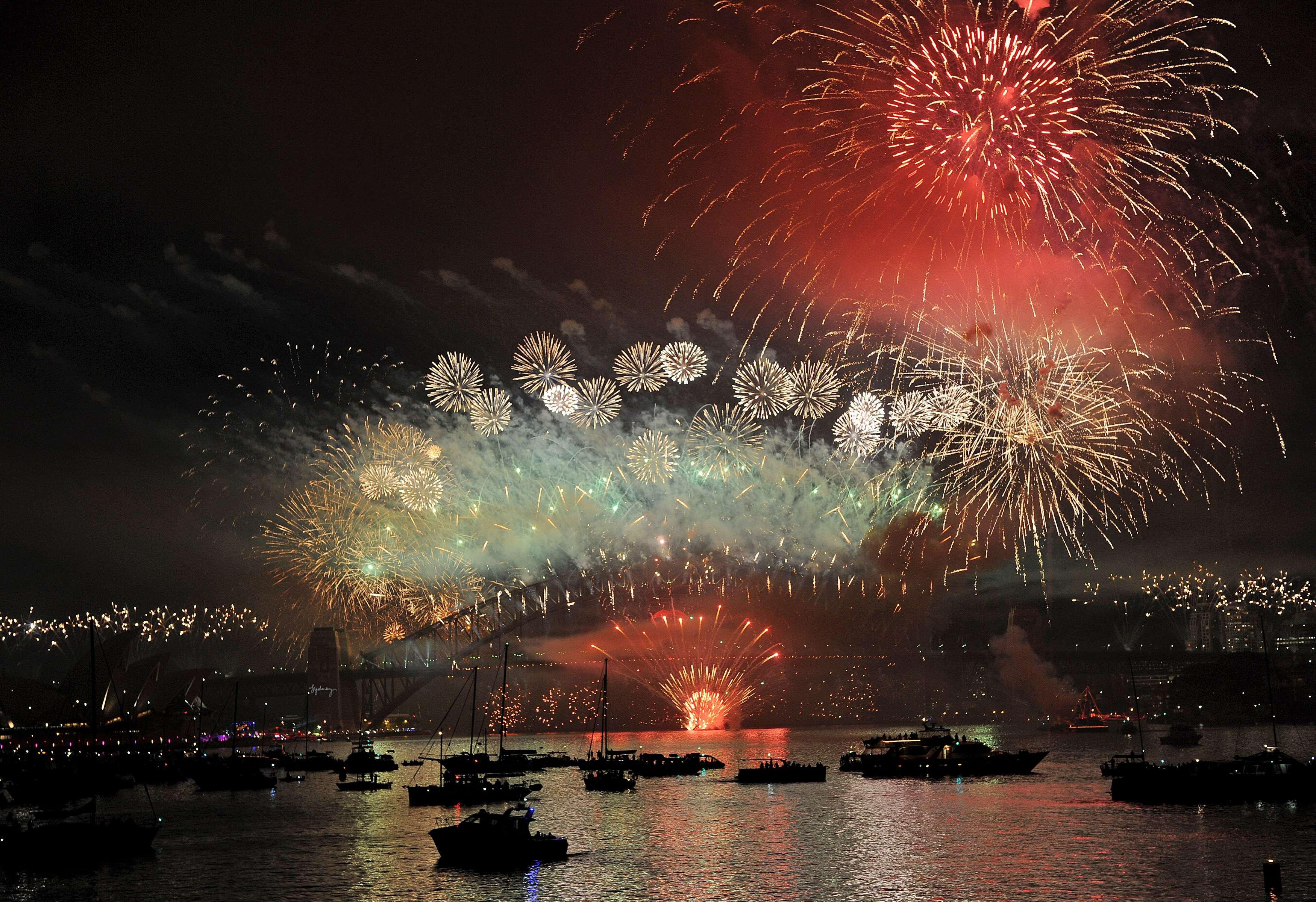 Austrália festeja o início de 2013
