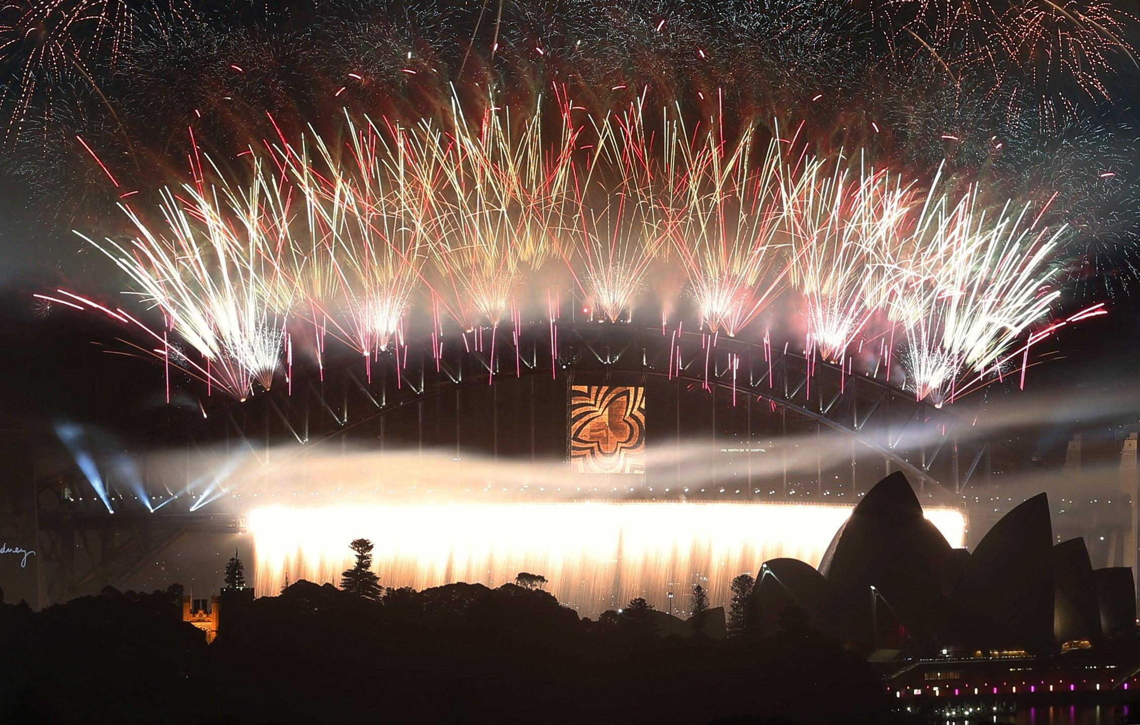 Sydney em festa com a chegada do novo ano