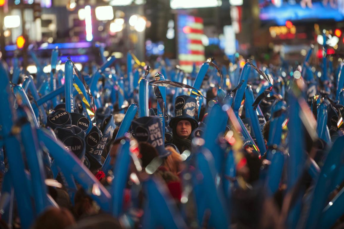 Times Square, em Nova Iorque, cheia, como sempre