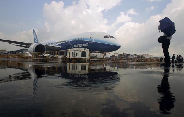 Boeing 787-8 Dreamliner  durante o Singapore Airshow, em Singapura