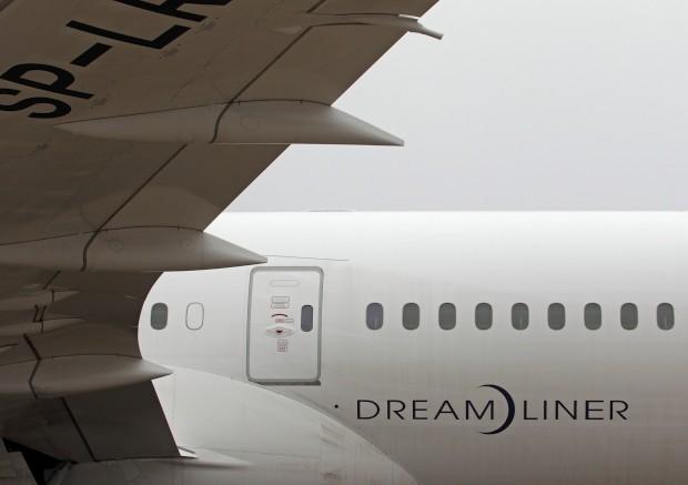 Detalhe de um 787 na sua primeira aterragem em Viena, Áustria
