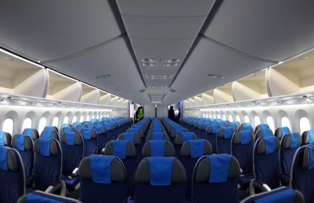 Dentro do Dreamliner
