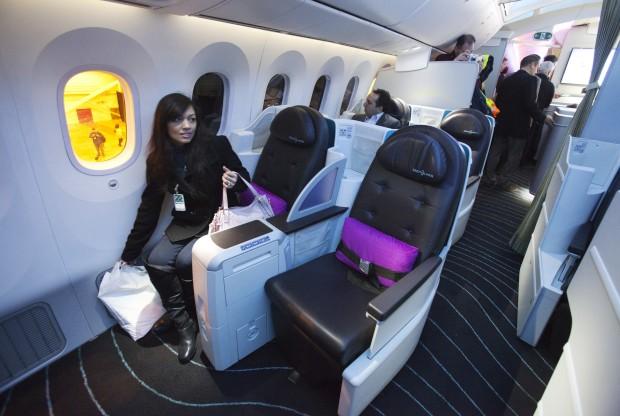 A experimentar a classe executiva de um 787 - Air Canada no aeroporto internacional de Toronto