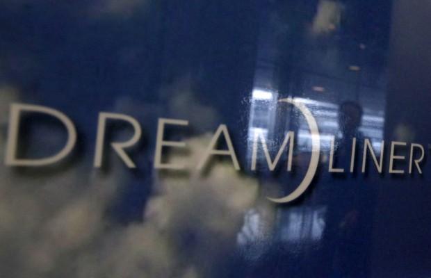 Detalhe de um anúncio ao Dreamliner no aeroporto internacional de Tóquio, Japão