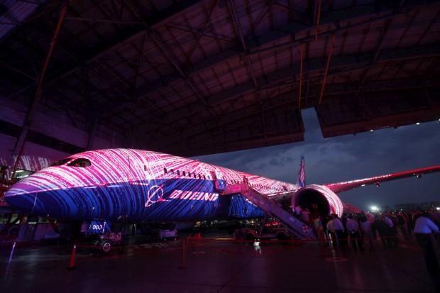 Apresentação à imprensa de um Dreamliner na Cidade do México - a AeroMexico tinha encomendado sete aparelhos
