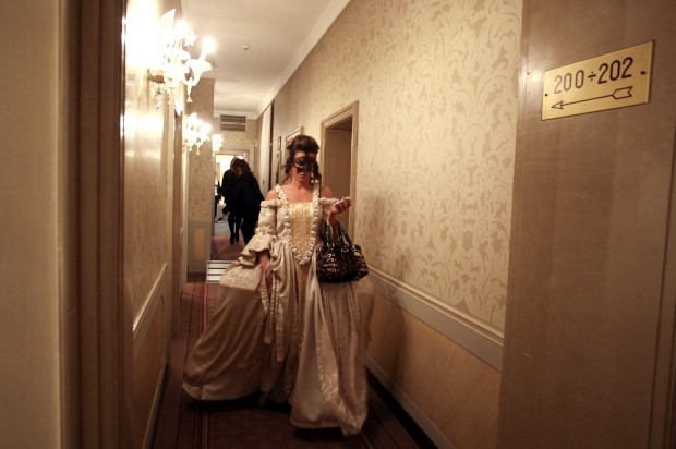 A passear no hotel Danieli